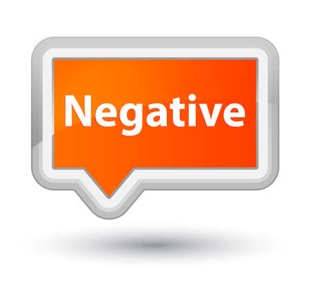 Negative isolated on prime orange banner button abstract illustration