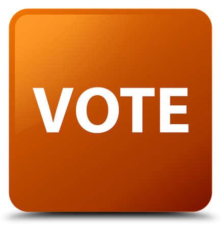 Vote isolé sur illustration abstraite de bouton carré brun Banque d'images