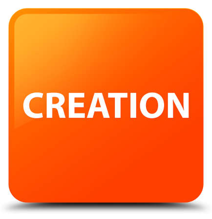 Creation isolated on orange square button abstract illustration