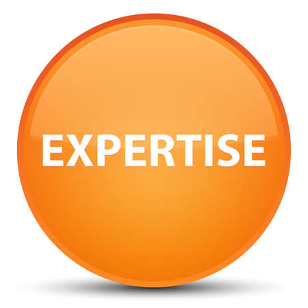 Expertise isolated on special orange round button abstract illustration