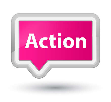 Action isolated on prime pink banner button abstract illustration