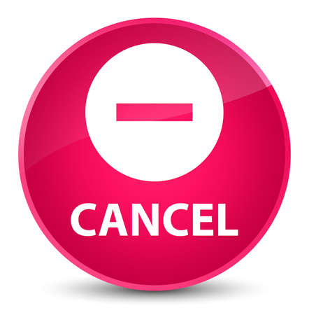 Cancel isolated on elegant pink round button abstract illustration