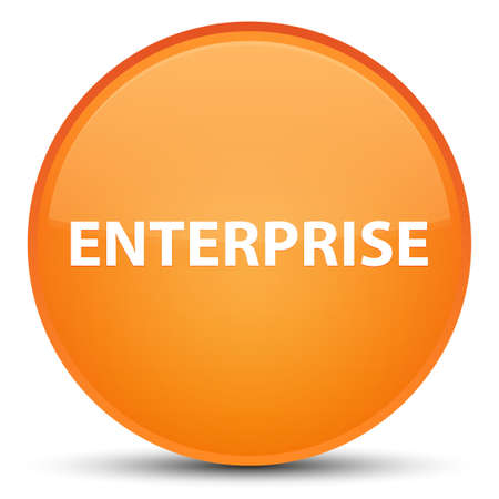 Enterprise isolated on special orange round button abstract illustration