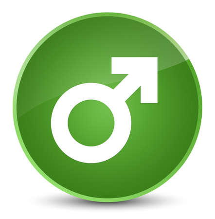 Male sign icon isolated on elegant soft green round button abstract illustration