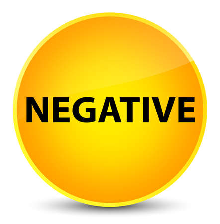 Negative isolated on elegant yellow round button abstract illustration Stock Photo