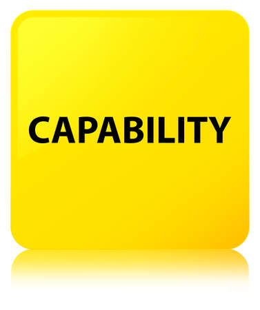 Capability isolated on yellow square button reflected abstract illustration Stock Photo