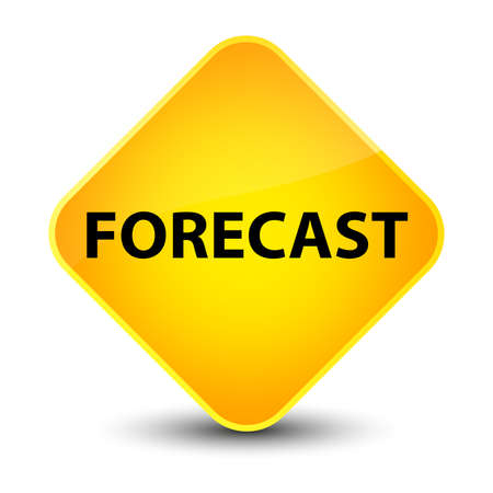 Forecast isolated on elegant yellow diamond button abstract illustration