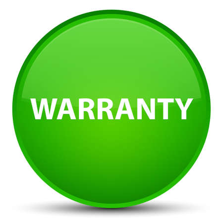 Warranty isolated on special green round button abstract illustration Stock Photo