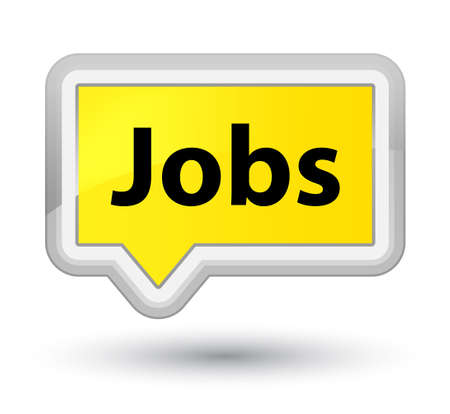 prime: Jobs isolated on prime yellow banner button abstract illustration Stock Photo