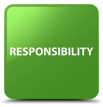 Responsibility isolated on soft green square button abstract illustration