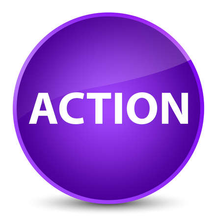 Action isolated on elegant purple round button abstract illustration