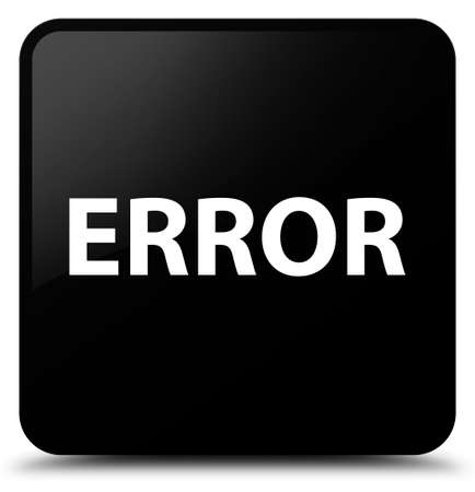 Error isolated on black square button abstract illustration