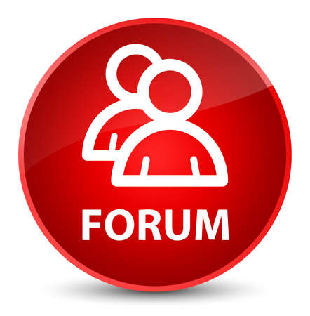 Forum (group icon) isolated on elegant red round button abstract illustration