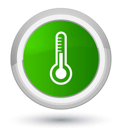 Thermometer icon isolated on prime green round button abstract illustration