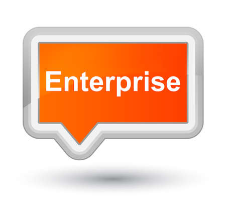Enterprise isolated on prime orange banner button abstract illustration Фото со стока