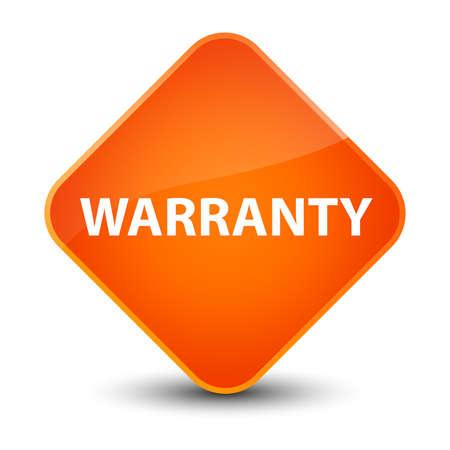 warranty: Warranty isolated on elegant orange diamond button abstract illustration