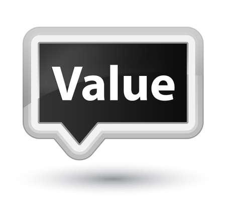 Value isolated on prime black banner button abstract illustration Reklamní fotografie