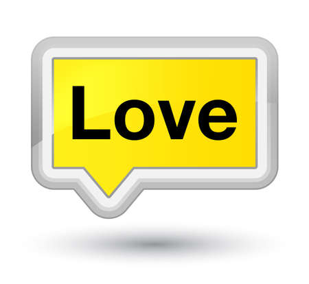 Love isolated on prime yellow banner button abstract illustration