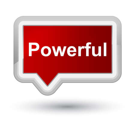 Powerful isolated on prime red banner button abstract illustration 版權商用圖片