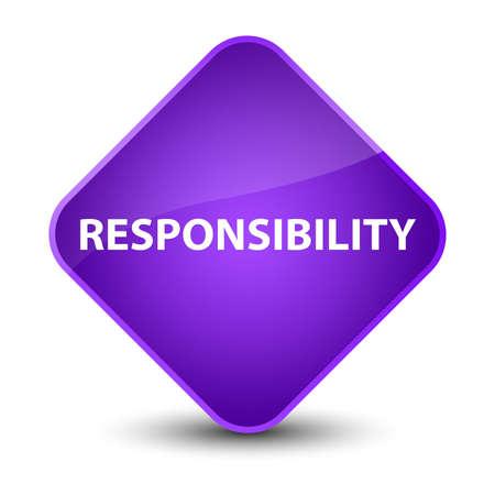Responsibility isolated on elegant purple diamond button abstract illustration