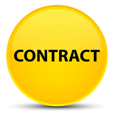 Contract isolated on special yellow round button abstract illustration Stock Photo