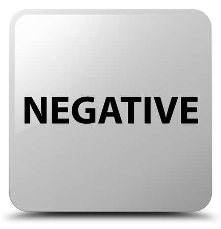 Negative isolated on white square button abstract illustration