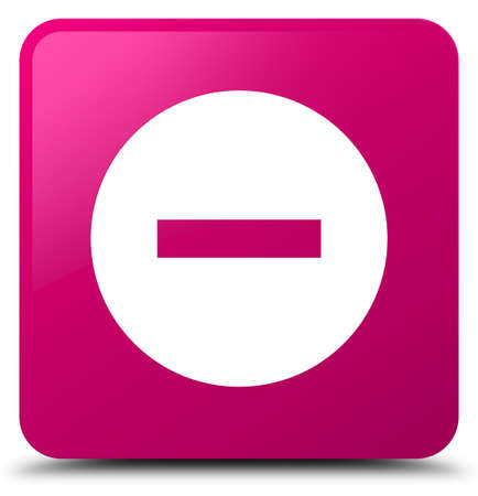 Cancel icon isolated on pink square button abstract illustration