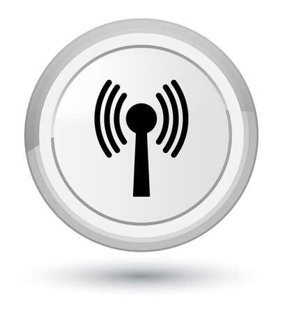 Icône de réseau WLAN isolé sur prime illustration abstraite de bouton rond blanc Banque d'images - 89699064