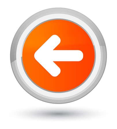 Back arrow icon isolated on prime orange round button abstract illustration Stock Photo