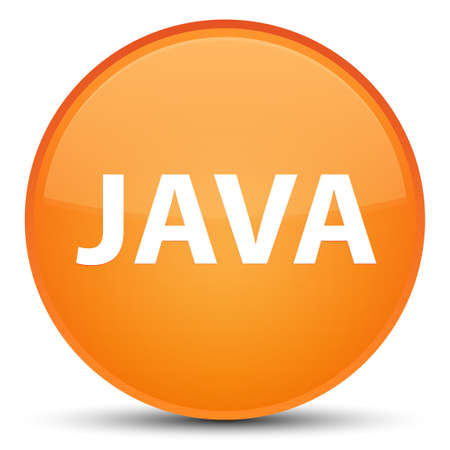 Java isolated on special orange round button abstract illustration