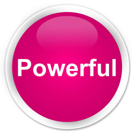 Powerful isolated on premium pink round button abstract illustration 版權商用圖片