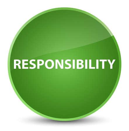 Verantwoordelijkheid op elegante zachte groene ronde knoop abstracte illustratie die wordt geïsoleerd Stockfoto