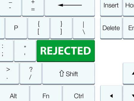 緑色のキーボードボタンの抽象的なイラストで分離拒否