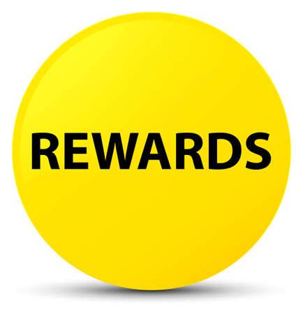 Recompensas aisladas en la ilustración abstracta de botón redondo amarillo Foto de archivo