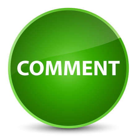 Comment isolated on elegant green round button abstract illustration