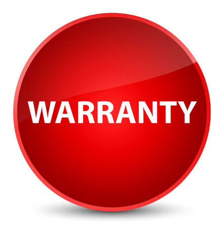 Warranty isolated on elegant red round button abstract illustration