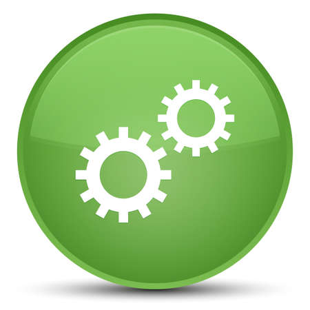Process icon isolated on special soft green round button abstract illustration Stock Photo