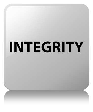 Integrity isolated on white square button reflected abstract illustration Stock Photo