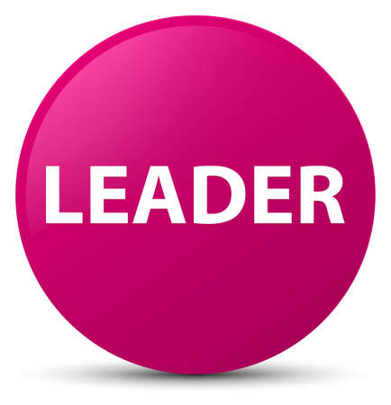 Leader isolated on pink round button abstract illustration
