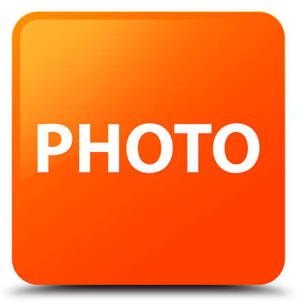 Photo isolated on orange square button abstract illustration