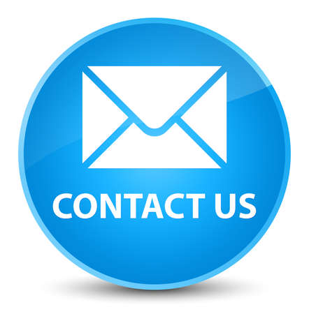 Contact us (email icon) isolated on elegant cyan blue round button abstract illustration