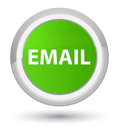 Email isolated on prime soft green round button abstract illustration Фото со стока