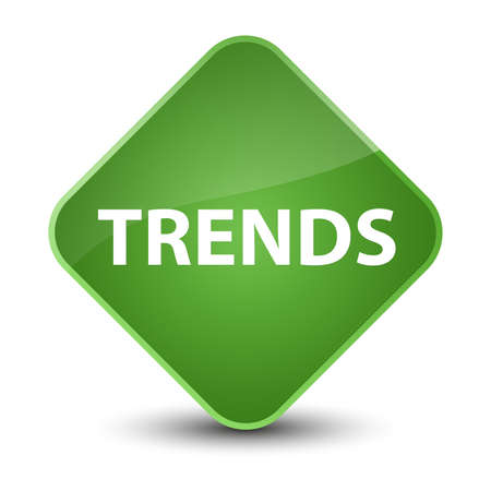 Trends isolated on elegant soft green diamond button abstract illustration Stok Fotoğraf