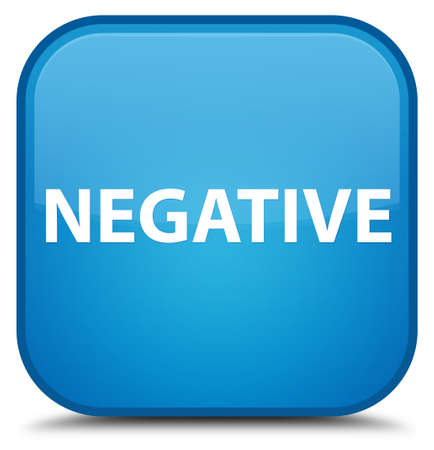 Negative isolated on special cyan blue square button abstract illustration Stock Photo