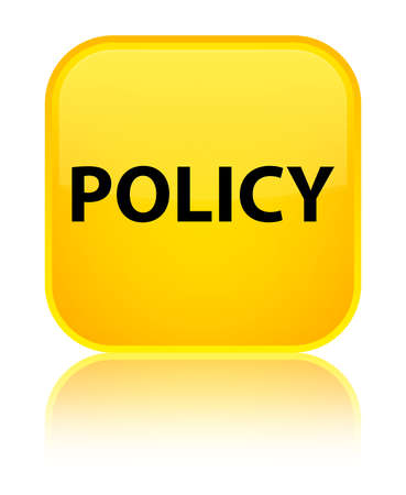 Policy isolated on special yellow square button reflected abstract illustration Stok Fotoğraf