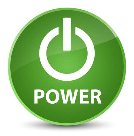 Power isolated on elegant soft green round button abstract illustration