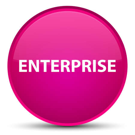Enterprise isolated on special pink round button abstract illustration