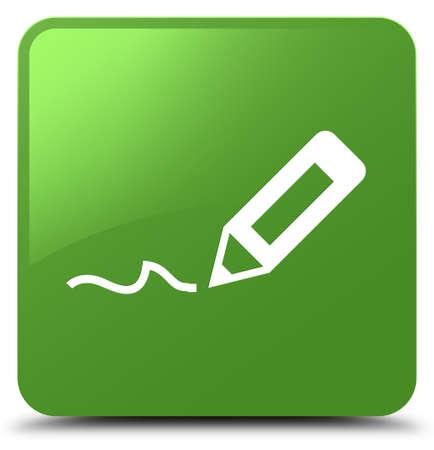 Cadastre-se ícone isolado na ilustração abstrata de botão quadrado verde suave