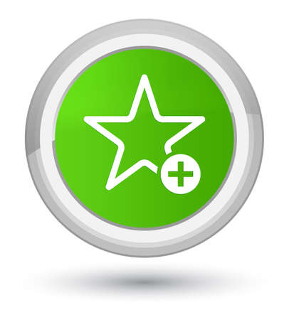 Add to favorite icon isolated on prime soft green round button abstract illustration