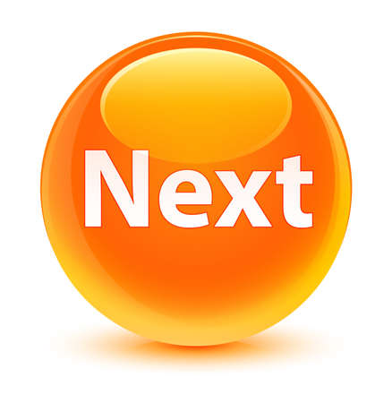 Next isolated on glassy orange round button abstract illustration